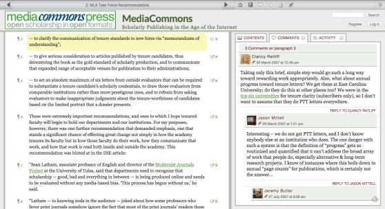 2. MLA Task Force Recommendations   MediaCommons   MediaCommons Press