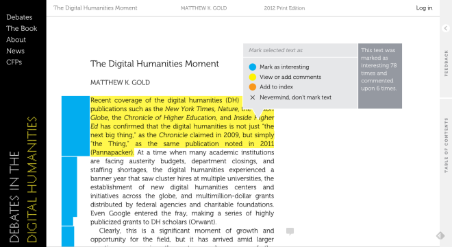 Debates in the Digital Humanities