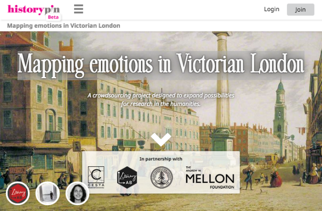 Historypin   Mapping emotions in Victorian London